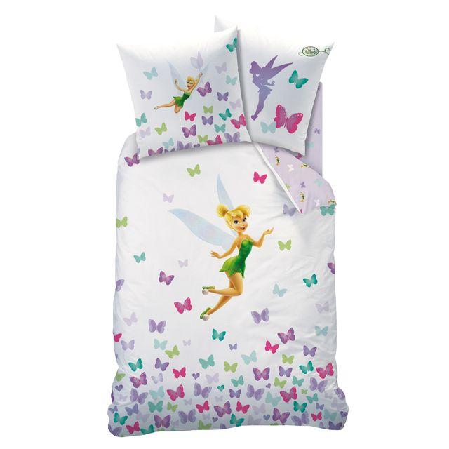 fairies housse de couette 1 place 1 taie d 39 oreiller blanc 140x200 cm 140cm x 200cm pas. Black Bedroom Furniture Sets. Home Design Ideas