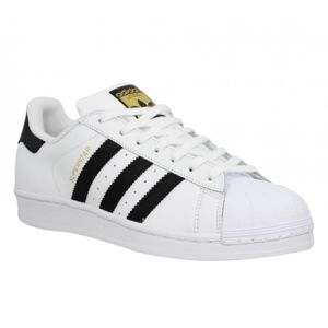 Adidas - Superstar cuir Homme-40 2/3-Blanc Noir