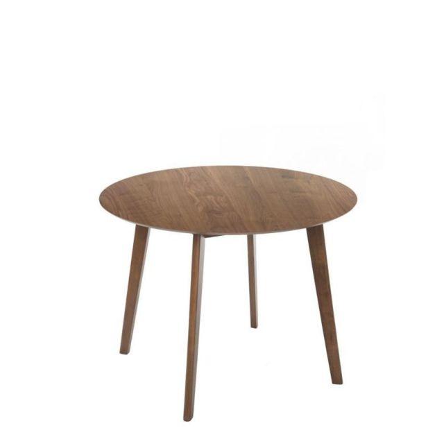 Tousmesmeubles Table de repas ronde - Ystad - L 100 x l 100 x H 75