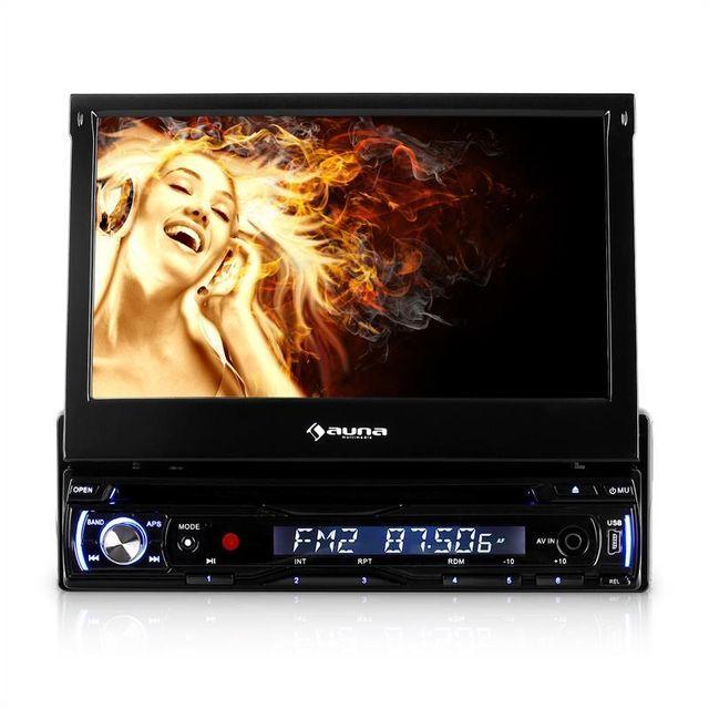 AUNA DTA90 Autoradio avec lecteur DVD et écran 18cm USB SD