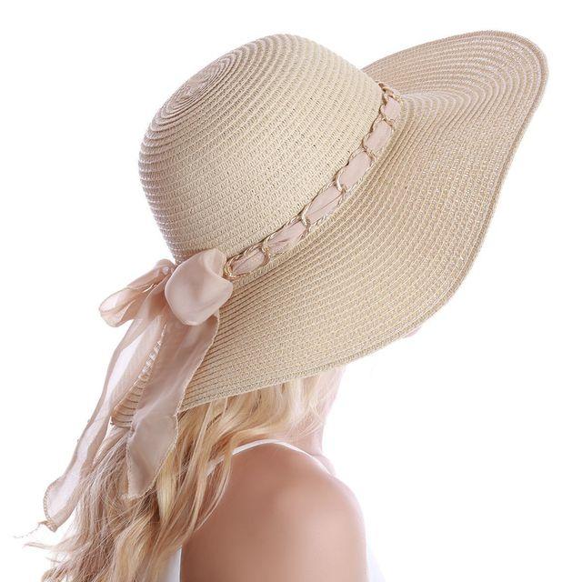 style le plus récent disponible fournir un grand choix de Lamodeuse - Capeline en paille beige avec ruban & chaine ...