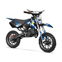 Pocket Cross Rx 49 - Mini Moto Enfant 50cc - Rockstar - Bleu
