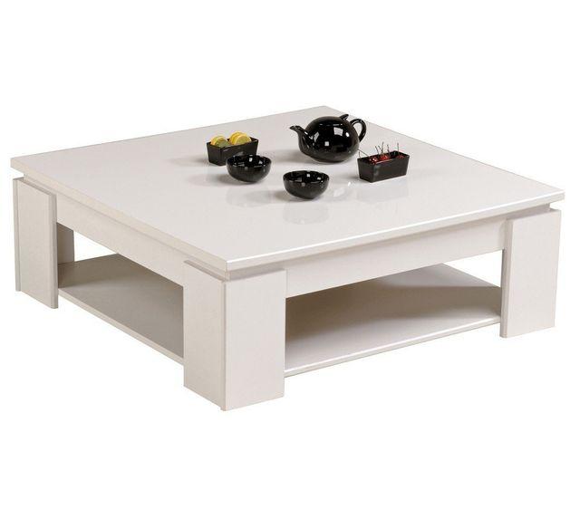 Rocambolesk Quadri Table Basse Blanc Megeve/BRIL
