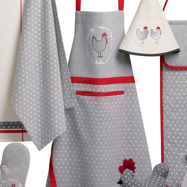 Les Ateliers Du Linge Tablier De Cuisine Georgette Anthracite 80