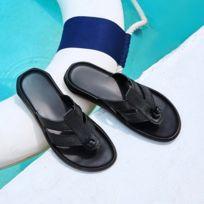 cd1a7d4397916 Wewoo - Chaussons Pantoufles en cuir confortables et extensibles pour  hommes mode  taille  38
