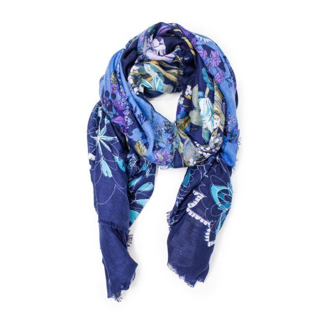 Femme Bleu bleu L Foulard Desigual