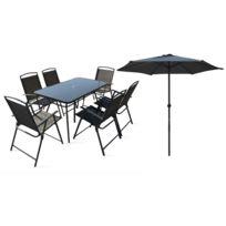 Table jardin avec parasol - Achat Table jardin avec parasol - Rue du ...