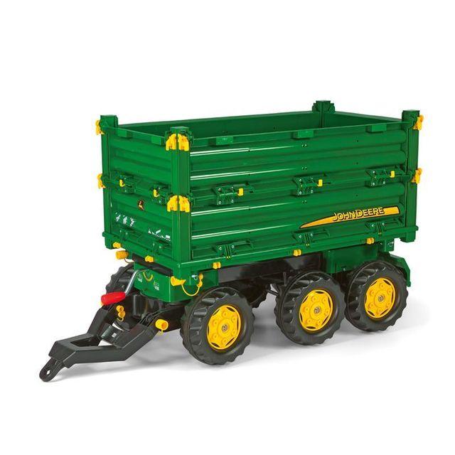 Rolly Toys 125043 RollyMulti Trailer John Deere - Remorque pour tracteurs à pédales