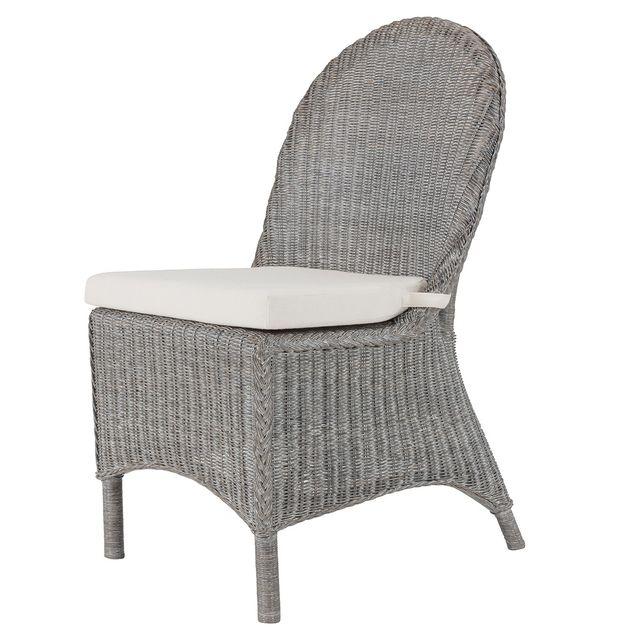 rotin design soldes 50 chaise noemie grise en osier fitrit pas cher achat vente chaises. Black Bedroom Furniture Sets. Home Design Ideas