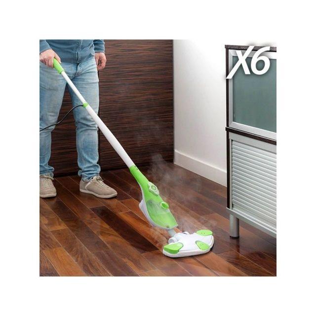 marque inconnue nettoyeur vapeur x6 steam mop 0 45 l 1250w vert blanc achat nettoyeur vapeur. Black Bedroom Furniture Sets. Home Design Ideas