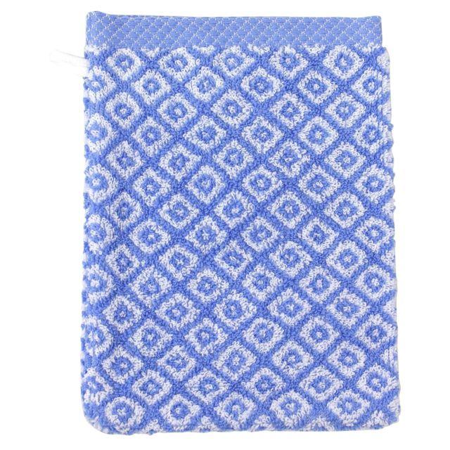 linnea gant de toilette 16x21 cm shibori mosaic bleu 500. Black Bedroom Furniture Sets. Home Design Ideas