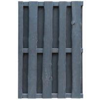 Moderne Clôtures et barrières categorie Vaduz Portillon de clôture de  jardin 100x150cm Bois imprégné Fsc Gris