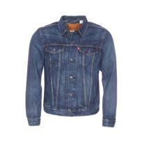 Levi's Veste en jean Trucker bleu clair patiné effet