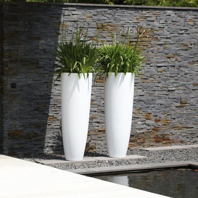 Elho Pot De Fleur Rond Extreme Haut En Polyethylene Pure Blanc