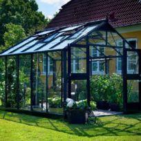 Juliana - Serre Premium anthracite en verre trempé 3 mm - Dimensions : 13.0 m²