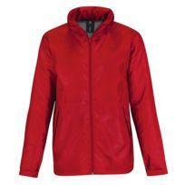 Fashion Cuir - Veste impermeable Couleur - rouge, Taille Homme - Xl