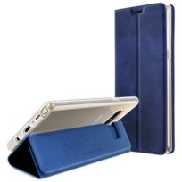 Avizar - Housse Galaxy Note 8 Etui folio Trifold ultra-fin fonction stand Bleu nuit
