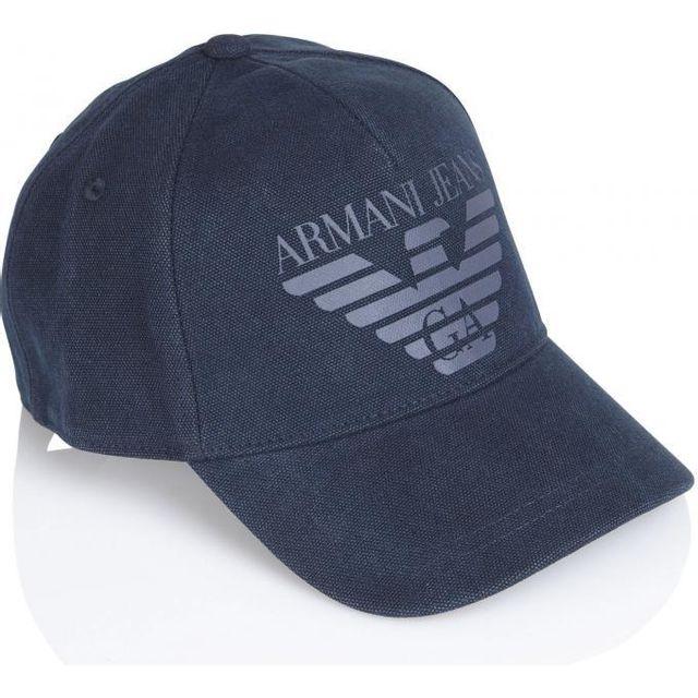368c676e302f Armani - Casquette Toile Jeans - pas cher Achat   Vente Casquettes,  bonnets, chapeaux - RueDuCommerce