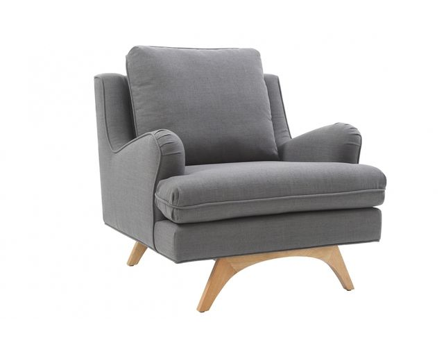 Remarquable Fauteuil scandinave lin anthracite