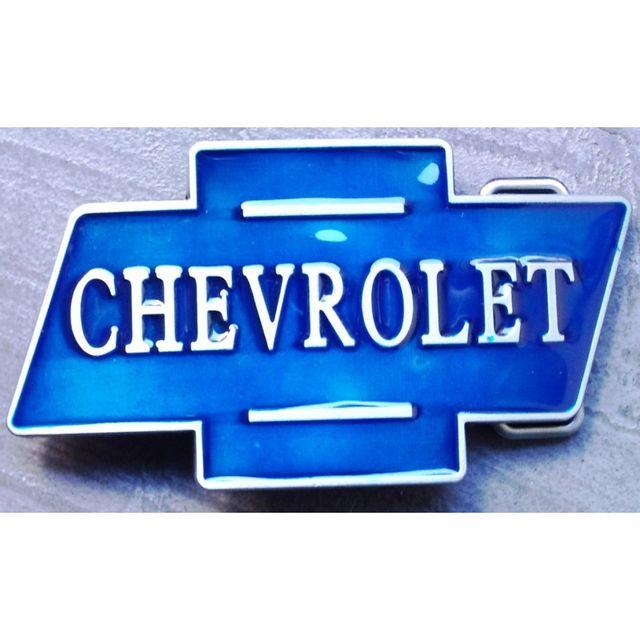 4477132f6a06 Universel - Boucle de ceinture chevrolet logo bleu fan camaro corvette