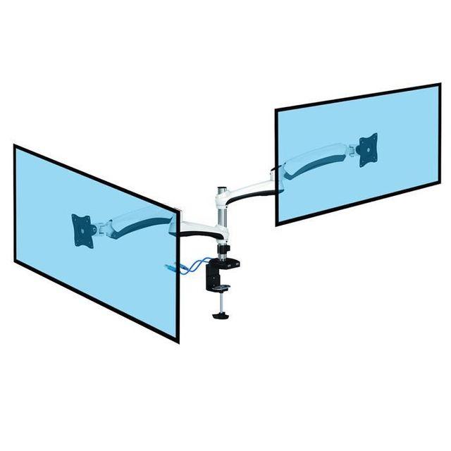 Kimex Support de bureau Full Motion 2 écrans Pc 13''-27'' avec prises Usb