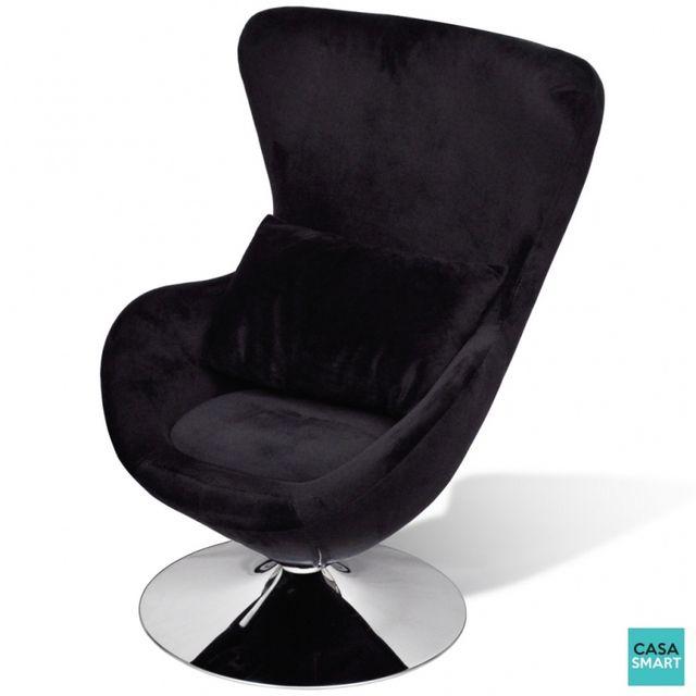 Casasmart Seabrook fauteuil pivotant noir