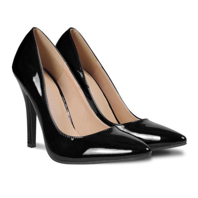 115c9e385d8f Vidaxl - Chaussures à talons hauts noires pour femme taille 37 - pas cher  Achat   Vente Entretien des chaussures - RueDuCommerce