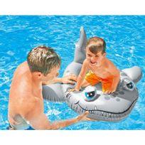 Touslescadeaux - Bateau Gonflable Enfant piscine - style Bouée Siège Bateau - Requin
