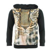 Divers Marques - Sweat Tshirt à Capuche Cabaneli Kanye Noir Tigre