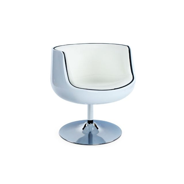 Fauteuil design 60x60x70cm Herrow - blanc