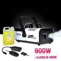 Pur Light - Machine à fumée 900W + 2 télécommandes + Etrier de fixation + 8 Litres de liquide