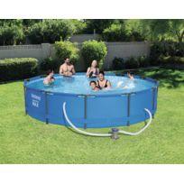 Piscine Tubulaire Ronde Steel Pro Max Pools D 366 X 76 Cm