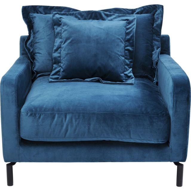 Karedesign Fauteuil Lullaby velours bleu pétrole Kare Design