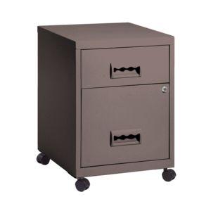 pierre henry caisson avec tiroirs en acier sur roulettes et serrure 40x40x57cm steel taupe. Black Bedroom Furniture Sets. Home Design Ideas