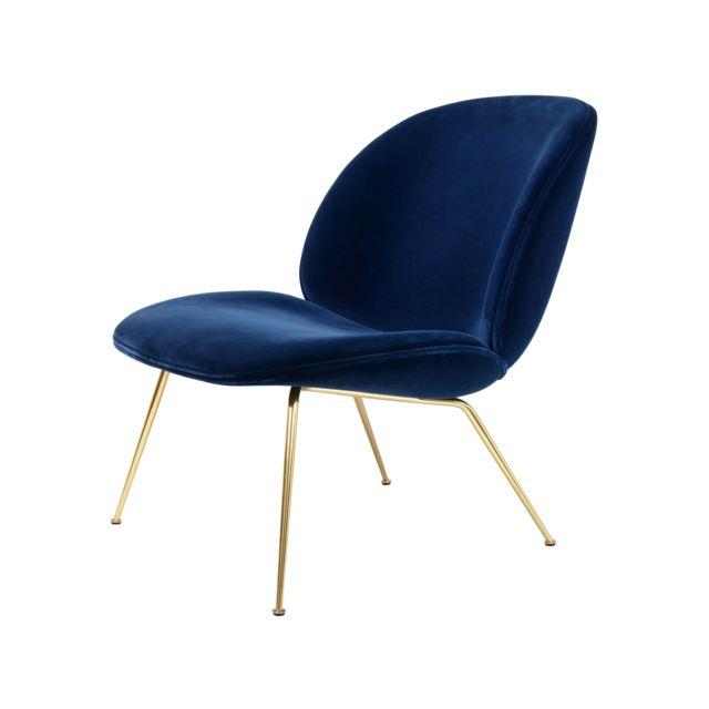 GUBI Beetle Lounge Chair - Remix 183 - mat noir