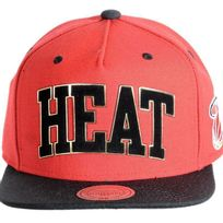 Mitchell And Ness - Casquette Miami Heat Logo Noir/ Or Eu 168