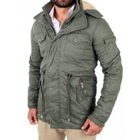 Young And Rich - Manteau chaud homme Manteau Yr413 vert