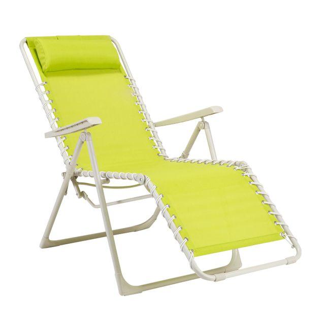 Carrefour optimistic fauteuil relax à lacets vert