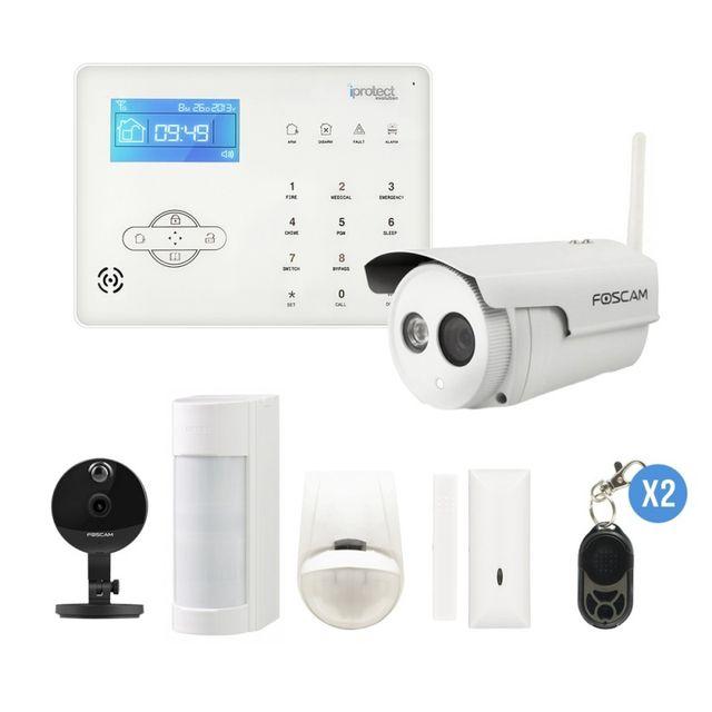 Audacieuse IPROTECT - Alarme GSM et surveillance pour maison et jardin avec OQ-74