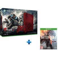 MICROSOFT - Xbox One S 2To Limited Edition GOW + Battlefield 1 Xbox One