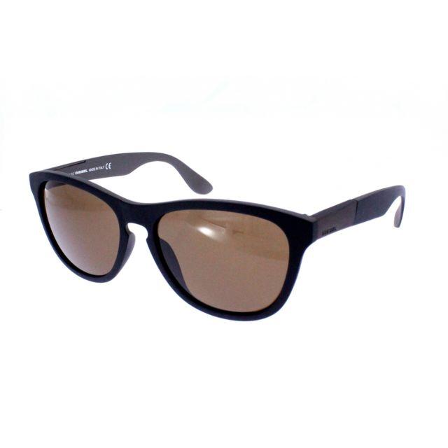 faf2e4fb82f09d Diesel - 185 05J - Lunettes de soleil homme Noir - pas cher Achat   Vente  Lunettes Aviateur - RueDuCommerce