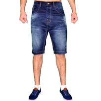 Dskins - D Skins Co - Short En Jean - Homme - Dk 8205 - Bleu Foncé Délavé Usures