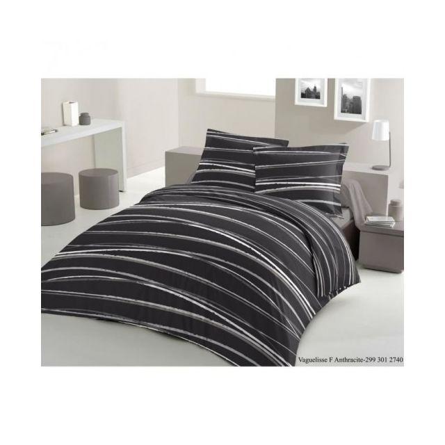 lovely home parure de couette vaguelisse 1 housse de couette 220x240 cm 2 taies 65x65 cm. Black Bedroom Furniture Sets. Home Design Ideas