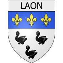 02 Laon ville autocollant plaque droits