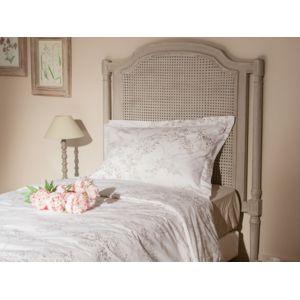 soldes mathilde et pauline t te de lit cann e en acajou et rotin hauteur 120cm rambrandt. Black Bedroom Furniture Sets. Home Design Ideas