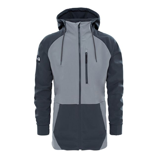 Veste Longtrack Multicolour Face Gris Softshell The North Pas q7ntFxPPE4