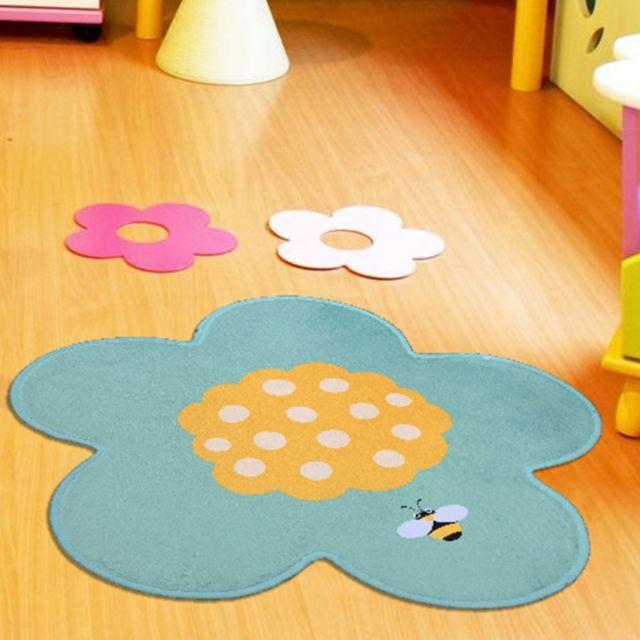 un amour de tapis tapis pour enfants chambre ultra doux fleur fabriqu en europe - Tapis Fleur