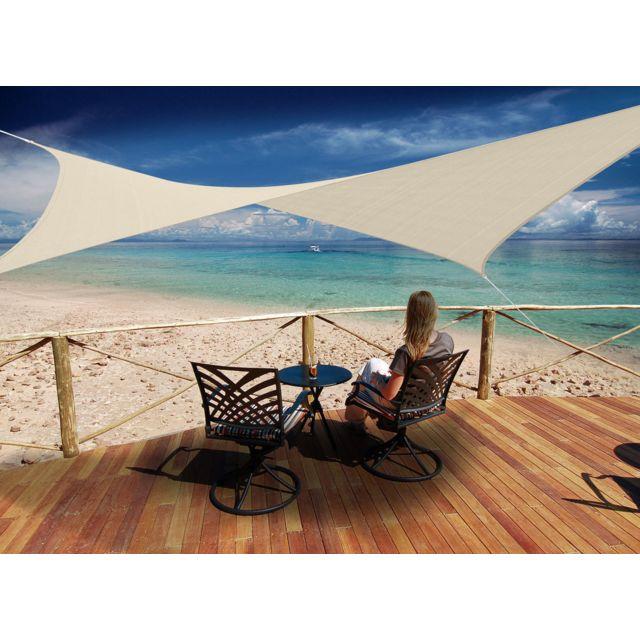 jardideco voile d 39 ombrage rectangulaire 4 x 3 m. Black Bedroom Furniture Sets. Home Design Ideas