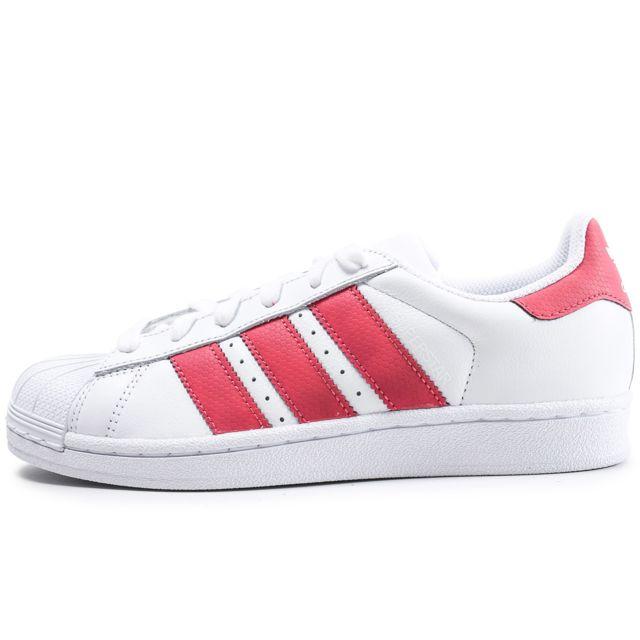 chaussures de séparation 1bdba feacb Adidas - Superstar Iridescent Junior Blanche Et Rose - pas ...