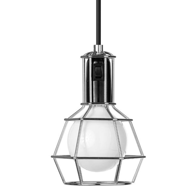 Design House Stockholm Work Lamp - Lampe Baladeuse Chrome H21cm - Lampe à poser Design Stockholm House designé par Form Us With Love